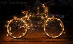 My granny's bike will be lit up like this at Christmas!