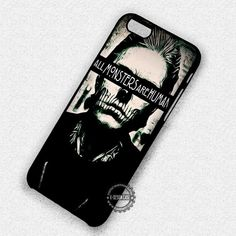 All Monsters are Human Evan Peters Tatte Skull - iPhone 7 6 5 SE Cases & Covers