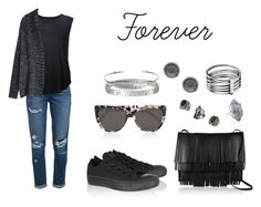"""""""Forever"""" by anaelle2 ❤ liked on Polyvore featuring Paige Denim, Raquel Allegra, Alexander Wang, Prism, Proenza Schouler, Converse, Topshop, Karen Millen, Cartier and Nadine S"""