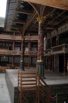 Shakespeare's Globe Theatre's Stage, London.