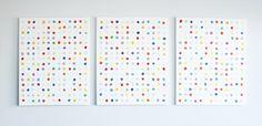 DIY Happy Dots Wall Art