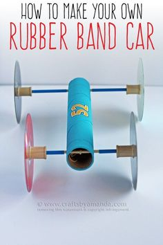 Making a Rubber Band Car - STEM Activities for Elementary kids!