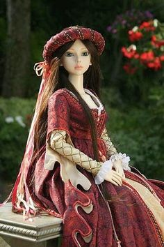 OP: Modeling this SD-size costume is my beautiful ball-jointed doll, Ryung by Elfdoll.