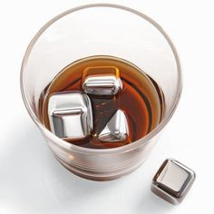 1x1x1inch Stainless Steel Whiskey Stone Ice Cubes
