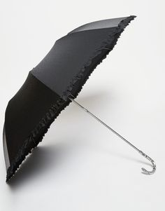 Fulton Contessa Umbrella With Frill and Embossed Tonal Pattern