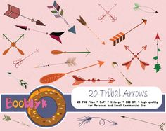 ❂❂❂ This listing is for an DIGITAL FILES only ❂❂❂    Tribal Arrows Clip Art  For Scrapbooking  Code: N-CA-0001    This listing contain set of hand drawn Tribal Arrows clip art for digital scrapbooking or any your paper project.  There are 20 different arrows    ➜ Size:  20 isolated elements, approximately 1000 pixels bigger side.     ➜ This purchase contain:  1 ZIP files with 20 PNG files inside.  All elements have transparent backgrounds    No watermarks will appear on purchased items…
