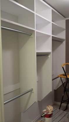 Walk In Closet Make Over On Budget