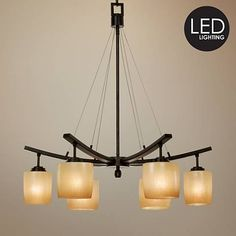 Raiden Collection Six Downlights LED Chandelier
