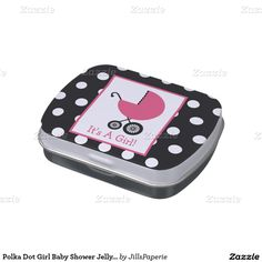 Polka Dot Girl Baby Shower Jelly Belly™ Tin Jelly Belly Candy Tins