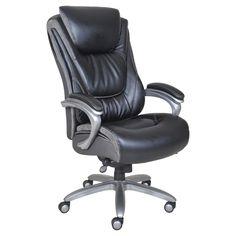 Big & Tall Smart Layers Premium Ultra Executive Chair Bliss Black Bonded Leather - Serta