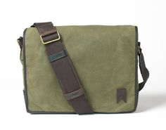 4c17ffd08954 Navali Waxed Mainstay Messenger Bag (Olive Canvas)  129.99 at www.navali.com