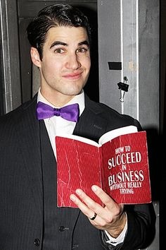 Darren Criss - OMG... this will always be one of my best memories, going to New York and seeing him opening night in How to Succeed in Business... He was amazing.