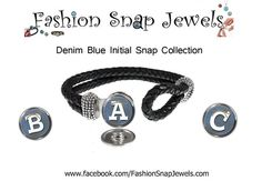 Denim Blue Initial Graphic Snap Collection