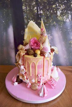 Meringue and ganache drip cake