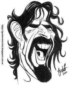 Boceto de Frank Zappa