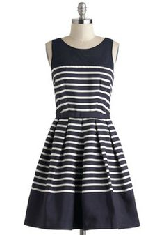 Family Portrait Dress, #ModCloth why is this navy/ white????? #navyisthebaneofmyexistence