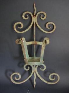 Pair of French Iron Wall Sconces Circa 1880