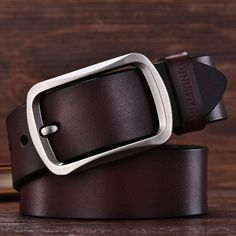 Men high quality leather belt //Price: $10.95 & FREE Shipping // Leather Belts, Online Boutiques, Men Casual, Free Shipping, Stuff To Buy, Accessories, Men Fashion, Waiting, Lifestyle