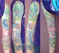 Adventure Time sleeve by Chelsea Rhea @ Amulet Tattoo, St. Pete FL - Imgur