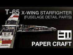 undefined X Wing, Starwars, Miniatures, Paper Crafts, Detail, Youtube, Diy, Bricolage, Star Wars