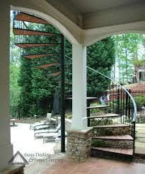 Image result for upstairs deck backyard spiral staircase Spiral Staircase Outdoor, Spiral Stairs Design, Outdoor Stairs, Spiral Staircases, Outdoor Balcony, Deck Stair Railing, Outside Stairs, Exterior Stairs, Stairs Architecture