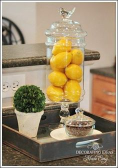 ideas for how to decorate and accessorize your kitchen countertop