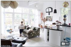 Sofa in Icelandic Poppies Velvet- Grey by GP & J Baker.