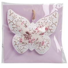 deco hanger romantic hart/vlinder/bloem
