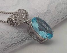 Check out this item in my Etsy shop https://www.etsy.com/ca/listing/492963499/aquamarine-sterling-silver-necklace