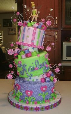 Tinkerbell Birthday Cakes | cool cake huh tinkerbell find more about cakes disney tinkerbell