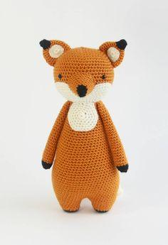 Fox crochet pattern by Little Bear Crochets: www. ❤️ : Fox crochet pattern by Little Bear Crochets: www. Crochet Baby Toys, Crochet Fox, Crochet Patterns Amigurumi, Cute Crochet, Amigurumi Doll, Crochet Animals, Crochet Hooks, Baby Knitting, Handmade Stuffed Animals