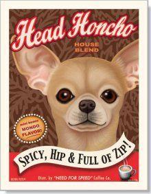 Chihuahua art print. Love my little Peanut!