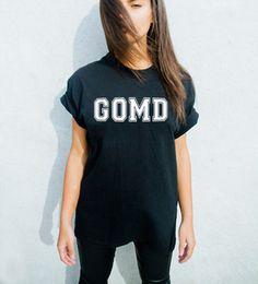 t-shirt gomd j cole graphic tee slogan top slogan t-shirt