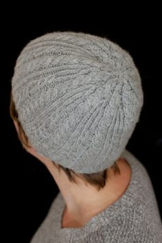 c09af4b46aa Cryolite Hat  cable knit hat pattern from Midnightsky Fibers Cable Knit Hat