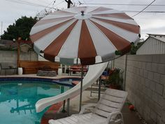Cool Retro 50s Aluminum Patio Umbrella Vintage Patio