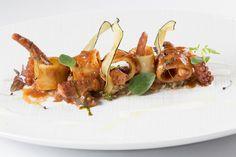 Mezzi paccheri con ragù di polipetti veraci e caviale di melanzane | L'Olivo Restaurant - Two Michelin Stars | Anacapri, Italy