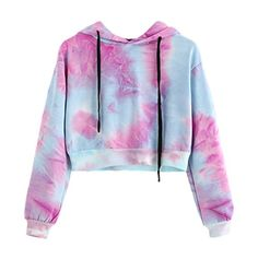 Halloween Makeup Looks > Women Long Sleeve Hoodie Short Sweatshirt Ladies Cotton Sexy Printed Simple Style Jumper Hooded Pullover Fashion Autumn Winter Warm Tops Blouse Teenage Outfits, Teen Fashion Outfits, Outfits For Teens, Cool Outfits, Fashion Women, Winter Outfits, Fast Fashion, Ootd Fashion, Fashion Clothes