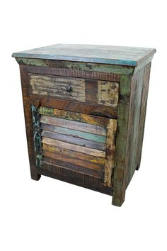 Mexicali Rustic Wood Night Stand Old World Living Room Furniture
