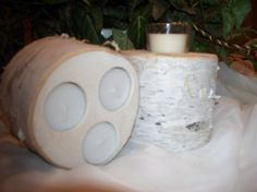 Natural Rustic Votive & 3 Tealight Reversable by Northwoodswood, $15.00