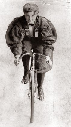 Tillie Anderson Shoberg, aka Tillie the Terrible Swede: An immigrant from Sweden, Tillie was known as the best female bicyclist in the late 1800s. She competed until 1902 when the League of American Wheelmen banned women from racing. Photo circa Aug. 27, 1935