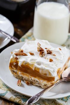 Butterscotch Lush- 4 creamy layers with a crust made from Pecan Sandies cookies.