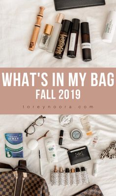 What's In My Bag | Fall 2019 Check out what's in my bag and my current favorites.  #fall #whatsinmybag #youngliving #katespade