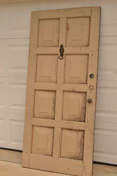 Old Door turned Headboard - before