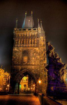world-at-night: Charles Bridge - Prague Charles Bridge, Pont Charles, Travel Around The World, Around The Worlds, Prague Travel, Prague Czech Republic, Abstract City, Hdr Photography, Amazing Buildings