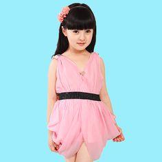 >> Click to Buy << Girls' Summer Dress Chiffon Clothes Casual Kids Clothing Short Sleeve Children Dresses Sundress Vestido Infantil Chiffon Dresses #Affiliate