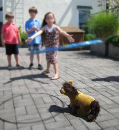 """cowgirl games - hula hoop """"lasso"""" the horse (Butterscotch) - other outdoor picnic games like sack races, water balloon toss"""