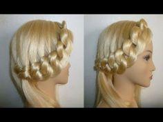 ▶ Schulfrisuren: EINFACHE Zopffrisur/Flechtfrisur. EASY Braided Updo. School Hairstyles - YouTube