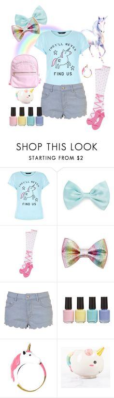 """Little Unicorn"" by lilcuriosity ❤ liked on Polyvore featuring New Look, Forever 21, BP., Elodie, little, ddlg, cgl and mdlg"