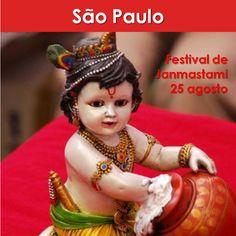 São Paulo: Festival de Janmastami ➡ 25 agosto Quinta 18:00  ➡  Centro Cultural Vrinda  Rua Muniz de Souza, 774 – Aclimação www.facebook.com/vrindasaopaulo #eventovegano #veganismo  #vegan #vegetarianismo #govegan #aplv  #semleite #zeroleite #lactose #semlactose #zerolactose #saopaulo #sãopaulo #vrinda  #janmastami #aclimacao #aclimação #SriKrishna #Krishna