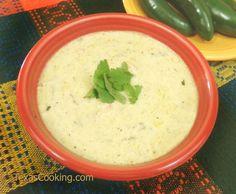 Cream of Jalapeno Soup recipe #Fiestaware